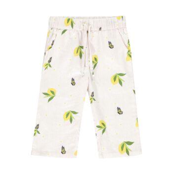 Steiff pamut nadrág 7/8-os hosszal és citromos mintával- Mini Girls - Hello Summer kollekció