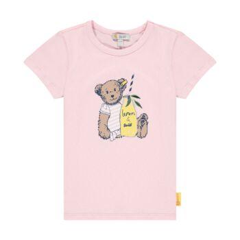 Steiff rövid ujjú póló macival és limonádéval- Mini Girls - Hello Summer kollekció fehér  | Bunny and Teddy