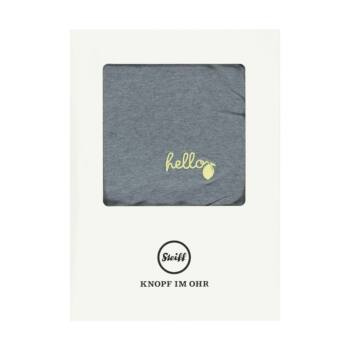 Steiff pamutdzsörzé takaró, pléd díszdobozban (65cm X 95 cm)- Baby Boys - Hello Summer kollekció