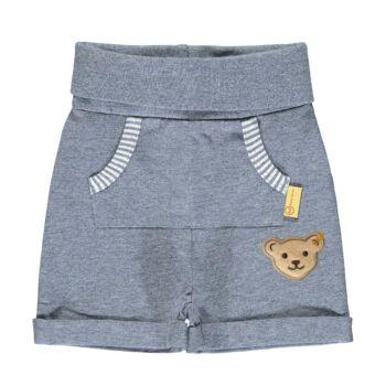 Steiff pocakpántos baba rövidnadrág- Baby Boys - Hello Summer kollekció fehér  | Bunny and Teddy