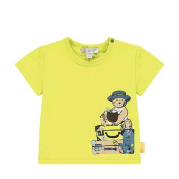 Steiff rövid ujjú póló macival és bőröndökkel- Baby Boys - Hello Summer kollekció fehér  | Bunny and Teddy