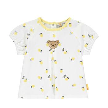 Steiff rövid ujjú tunika citromos mintával- Baby Girls - Hello Summer kollekció fehér  | Bunny and Teddy
