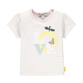 Steiff rövid ujjú póló LOVE felirattal- Baby Girls - Hello Summer kollekció fehér    Bunny and Teddy