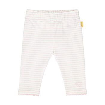 Steiff csíkos leggings- Baby Girls - Hello Summer kollekció fehér  | Bunny and Teddy