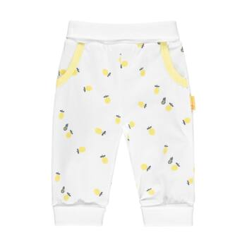 Steiff melegítő alsó citrom mintával- Baby Girls - Hello Summer kollekció fehér    Bunny and Teddy
