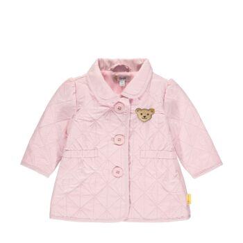 Steiff steppelt kabát légáteresztő és vízlepeergető anyagból- Baby Girls - Hello Summer kollekció fehér  | Bunny and Teddy