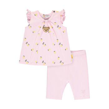 Steiff ujjatlan póló és leggings szett citromos mintával- Baby Girls - Hello Summer kollekció fehér  | Bunny and Teddy