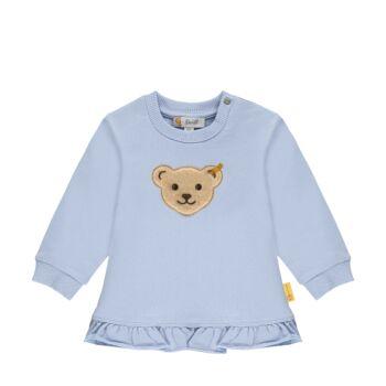 Steiff fordos pamut pulóver,melegítő felső- Baby Girls - Hello Summer kollekció fehér  | Bunny and Teddy