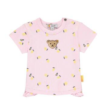Steiff rövid ujjú póló citrom mintával- Baby Girls - Hello Summer kollekció fehér  | Bunny and Teddy