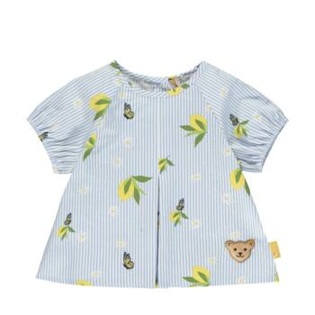 Steiff rövid ujjú blúz citromos mintával- Baby Girls - Hello Summer kollekció fehér  | Bunny and Teddy