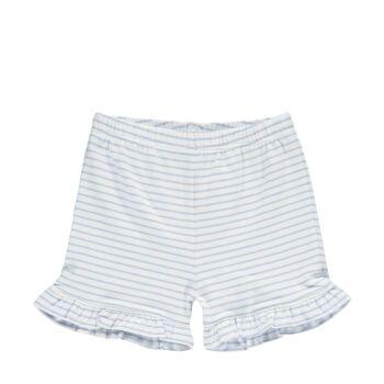 Steiff csíkos fodros rövidnadrág- Baby Girls - Hello Summer kollekció fehér  | Bunny and Teddy