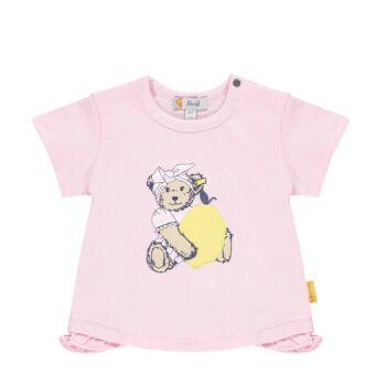 Steiff rövid ujjú póló citrommal és macival- Baby Girls - Hello Summer kollekció fehér    Bunny and Teddy