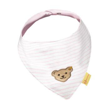 Steiff csíkos háromszög alakú kendő - Baby Girls - Hello Summer kollekció rózsaszín  | Bunny and Teddy