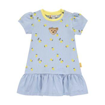 Steiff pamut ruha fodrokkal és citrom mintával- Baby Girls - Hello Summer kollekció fehér    Bunny and Teddy