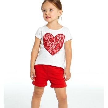 iDO póló és rövidnadrág szett - piros - Bunny and Teddy