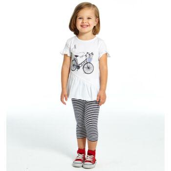 iDO póló és leggings szett - fehér - Bunny and Teddy